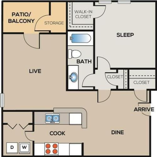 The Vanderbuilt: 1 Bedroom, 1 Bathroom - 878 sqft