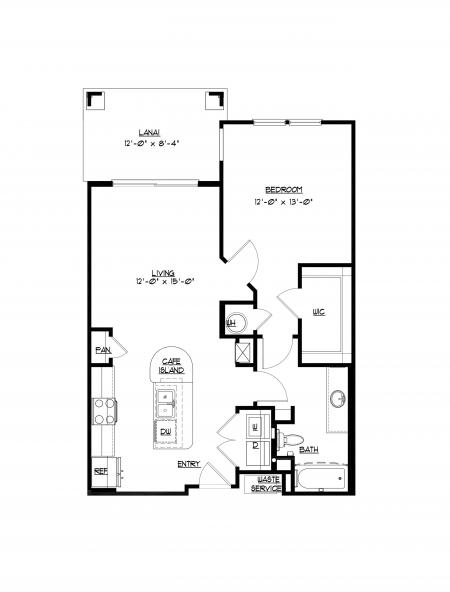 A1 - 1 bedroom, 1 bathroom apartment at Champions Vue Apartments