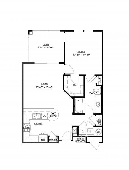 1 bedroom, 1 bathroom at Champions Vue