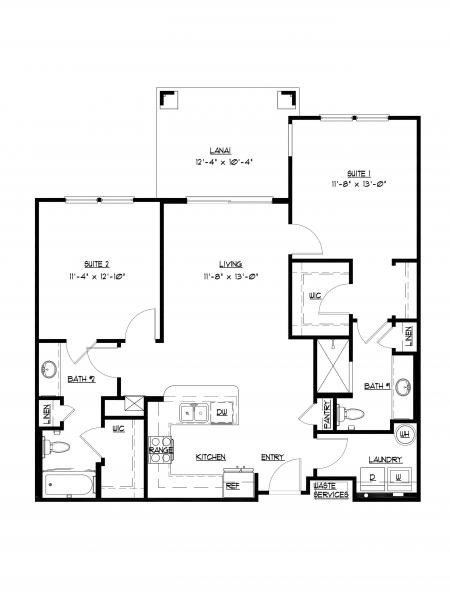 B1 - 2 bedroom, 2 bathroom at Champions Vue