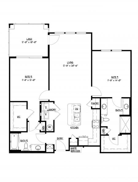 2 bedroom, 2 bathroom at Champions Vue