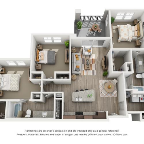 C1 - 3 bedroom, 3 bathroom at Champions Vue