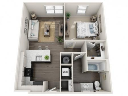 1 Bedroom Floor Plan | Apartments In Sanford Fl | Lofts at Eden