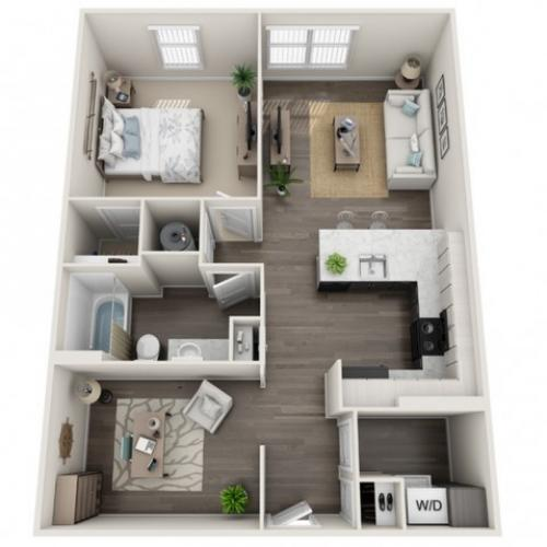 1 Bdrm Floor Plan | Apartments For Rent In Sanford Fl | Lofts at Eden