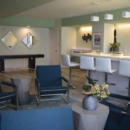 Clubhouse gathering area