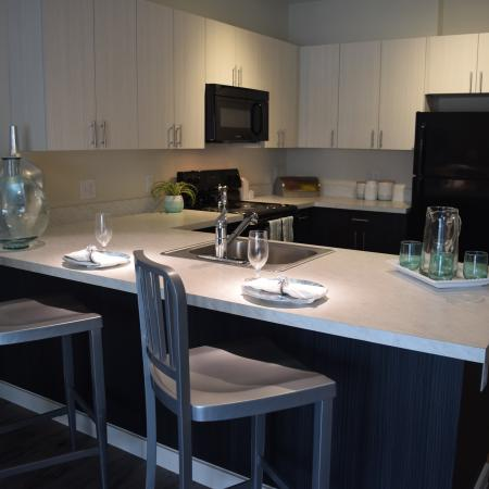 Eat-In Kitchen Countertop Seating