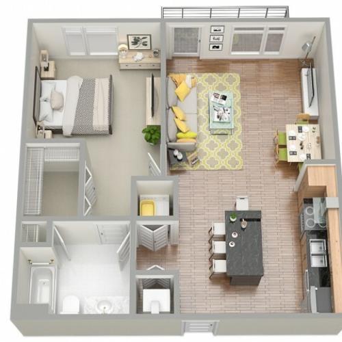 3D Floor Plan 2 | Clearwater Rentals | The Nolen