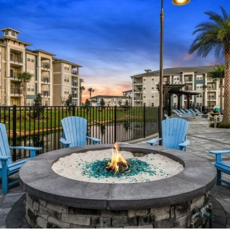 Resident Fire Pit | Apartments For Rent In Davenport Fl | Champions Vue Apartments