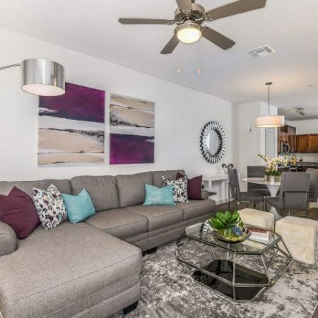 Spacious Living Room | Apartments In Davenport Fl | Champions Vue Apartments