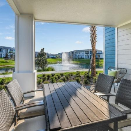 Spacious Apartment Balcony | Davenport Fl Apartments | Champions Vue Apartments
