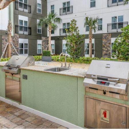 Community BBQ Grills | Apartment For Rent In Sanford Fl | Lofts at Eden