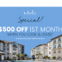 $500 Off 1st Month when you look & lease for $99