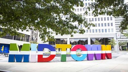 Colorful Midtown Sign in Midtown Atlanta | Modera Midtown