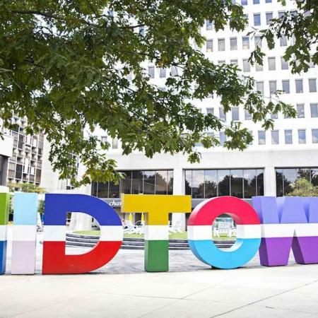 Colorful Midtown Sign in Midtown Atlanta | Modera Midtown