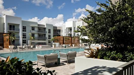 Elevated Deck with Hotel-Inspired Pool | Apartments for rent in Miami, FL | Modera Douglas Station