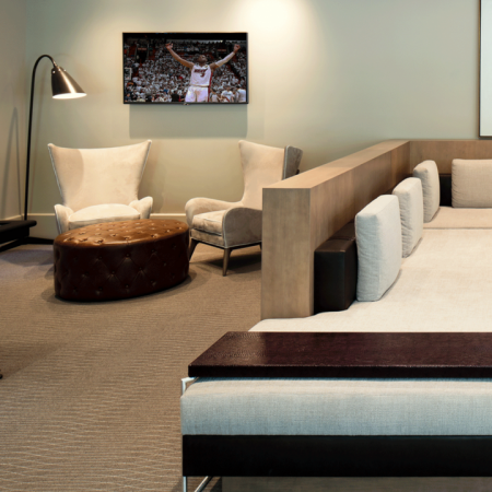 Air Hockey and Lounge Seating in Clubhouse | Modera Douglas Station