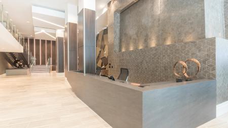 Concierge Desk in Lobby Entrance | Modera Midtown