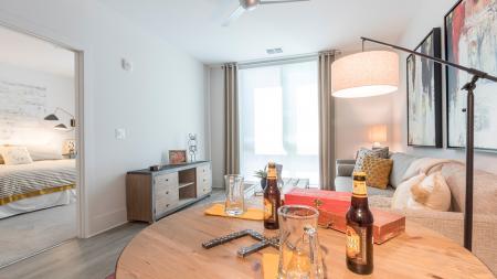 One-Bedroom Apartment Living Area | Modera Midtown