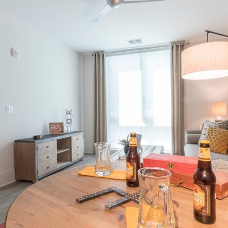 One-Bedroom Apartment Living Area | Modera Midtown