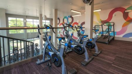 Spin Bikes in our Upstairs Fitness Studio   Denver, CO