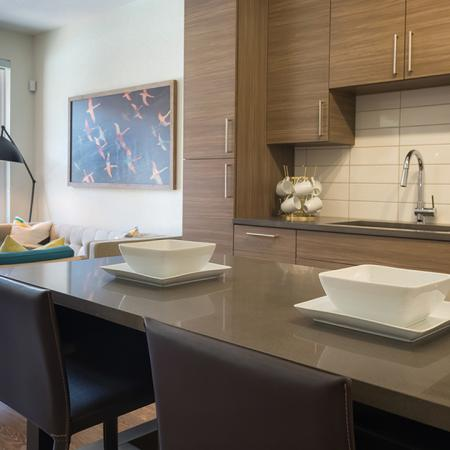 Kitchen Island with Quartz Countertop| Modera Observatory Park
