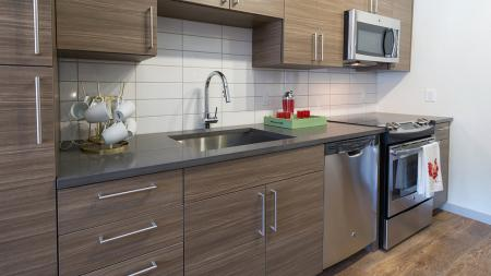 Contemporary Kitchens with Stainless Steel Appliances and Custom Cabinets   Modera Observatory Park
