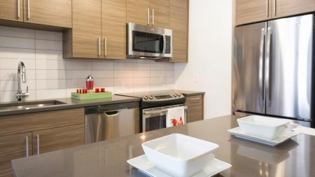 Kitchen Islands and Stainless Steel Appliances   Modera Observatory Park
