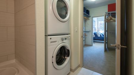 In-Home Full-Sized Stackable Washer and Dryer   Modera Observatory Park