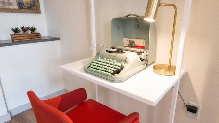 Workspace with Vintage Typewriter  Modera Observatory Park
