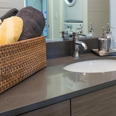 Bathroom with Quartz Counter | Modera Observatory Park