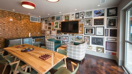 Game Room with Board Games, Mini Kitchen and Flat Screen Television   Modera Observatory Park