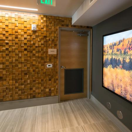 Dramatic Flat Screen Television in our Clubhouse | Modera Observatory Park