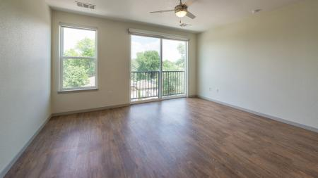 Wood Plank-Style Floors in our Apartment Homes   Modera Observatory Park