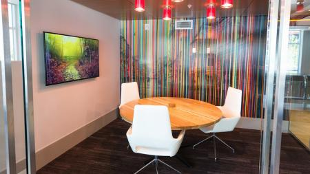 Private Work Rooms with Flat Screen Televisions   Modera Observatory Park
