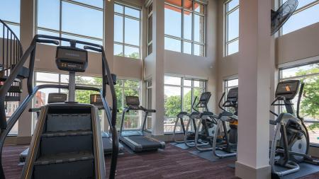 Top-Of-The-Line Cardio Machines in our Fitness Studio   Modera Observatory Park