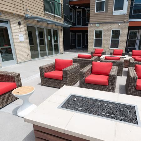 Outdoor Fire Table and Seating | Modera Observatory Park