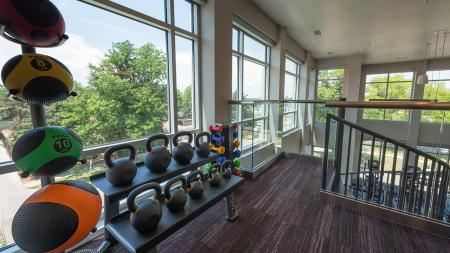 Green Space Views from our Fitness Studio   Modera Observatory Park