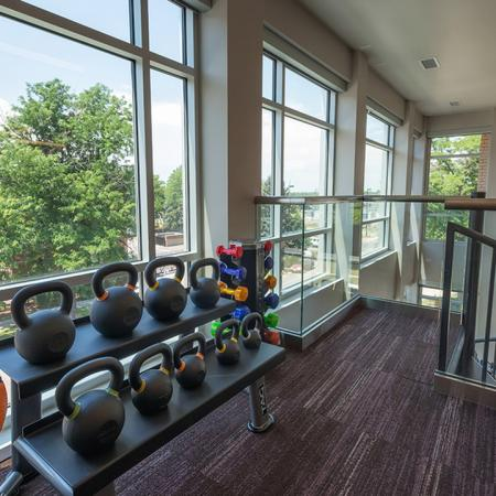 Green Space Views from our Fitness Studio | Modera Observatory Park