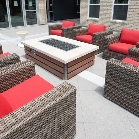 Cozy Outdoor Fire Table and Lounge Area | Modera Observatory Park