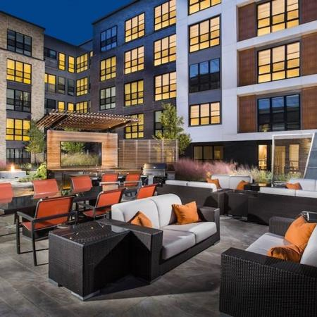 Elevated Deck with Seating and Grills | Modera Mosaic