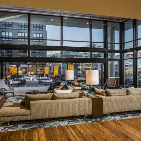 Spacious Resident Clubhouse with Lounge and Fire Place | Modera Mosaic