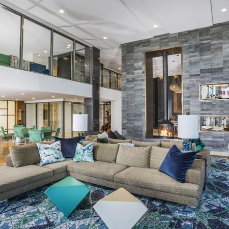 Game Tables and Lounge Space in Resident Clubhouse | Modera Mosaic