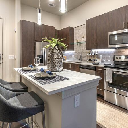 Kitchen islands | Modera Turtle Creek | Dallas, TX | Brand New Apartment Homes