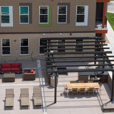 Elevated Outdoor Social Lounge | Modera Observatory Park