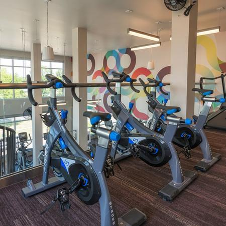 Spin Bikes in our Upstairs Fitness Studio | Denver, CO