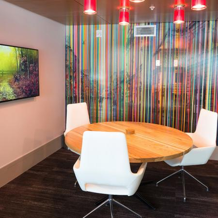 Private Work Rooms with Flat Screen Televisions | Modera Observatory Park