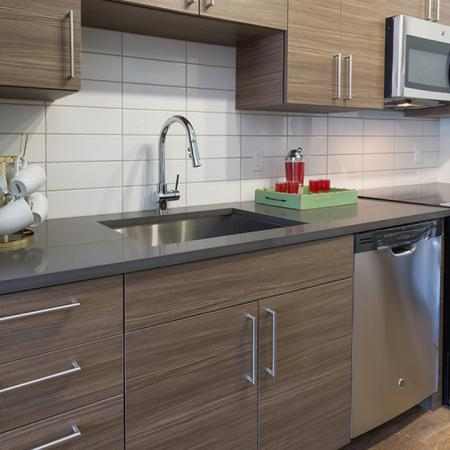 Contemporary Kitchens with Stainless Steel Appliances and Custom Cabinets | Modera Observatory Park