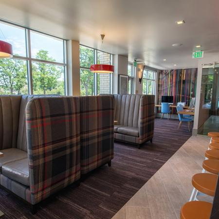 Cozy Booth Seating in the Resident Clubhouse | Denver, CO