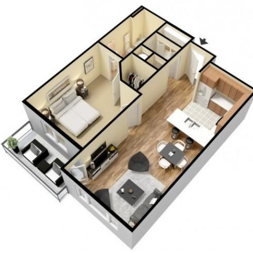 Floor Plan 2 | Apartments For Rent In Kansas City Kansas | Prairie View at Village West