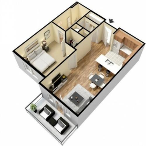 Floor Plan 3 | Apartments In Kansas City Kansas | Prairie View at Village West